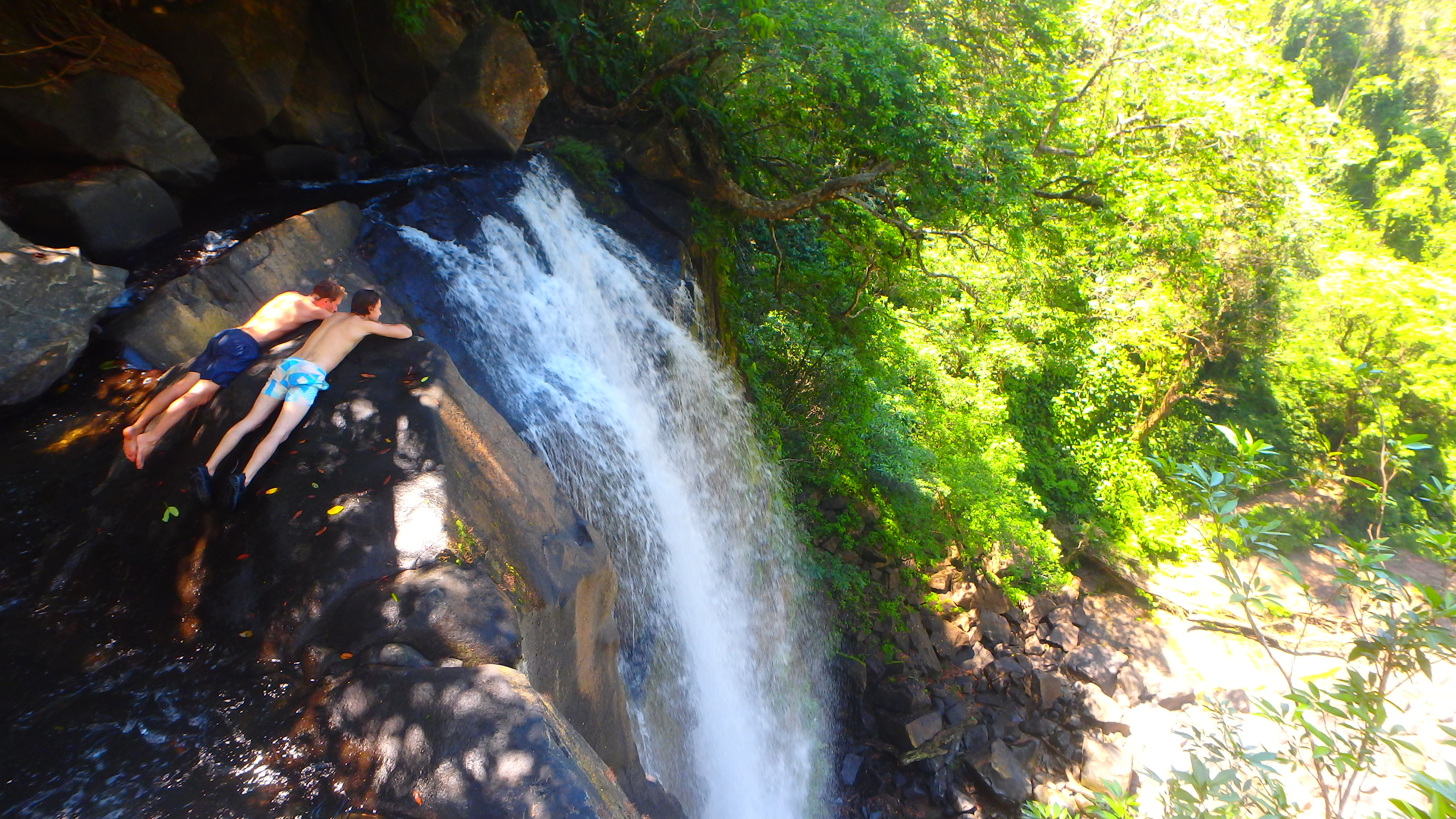 Nauyaca Falls on top